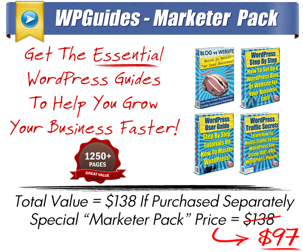 Save $$$ With WordPress Guides Product Packs