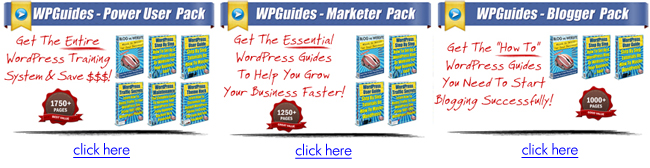 WordPress Training Guides - Packages