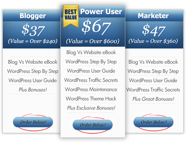 WordPress Guides - Package Comparison Table